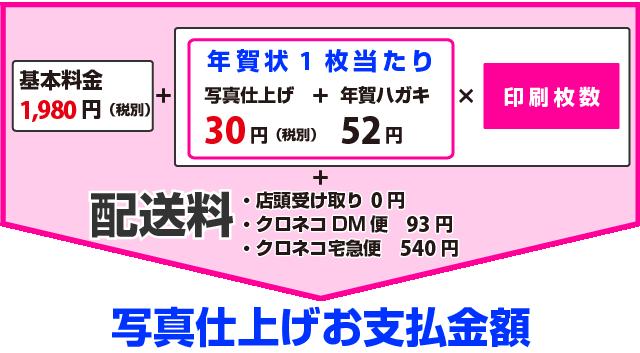 アプリ年賀状 写真仕上げ(富士フイルム印画紙使用)の価格